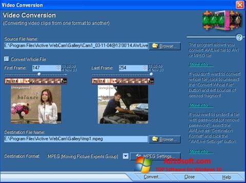 Ekraanipilt Active WebCam Windows 10
