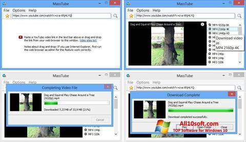 Ekraanipilt MassTube Windows 10
