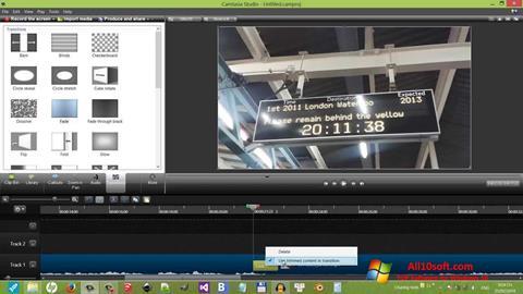 Ekraanipilt Camtasia Studio Windows 10
