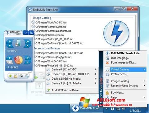 Ekraanipilt DAEMON Tools Lite Windows 10