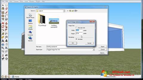 Ekraanipilt SketchUp Windows 10