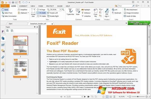 Ekraanipilt Foxit Reader Windows 10
