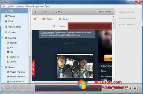 Ekraanipilt Miro Windows 10