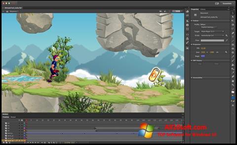 Ekraanipilt Adobe Flash Professional Windows 10