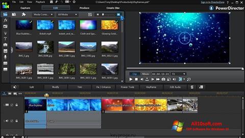 Ekraanipilt CyberLink PowerDirector Windows 10