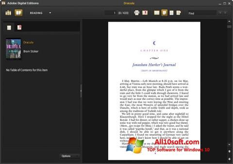 Ekraanipilt Adobe Digital Editions Windows 10