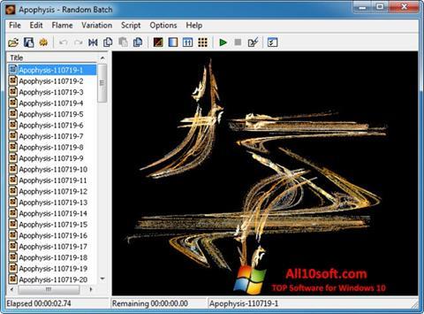 Ekraanipilt Apophysis Windows 10