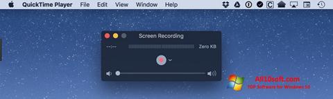 Ekraanipilt QuickTime Windows 10