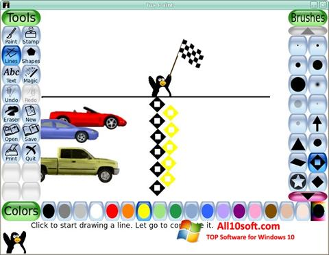 Ekraanipilt Tux Paint Windows 10