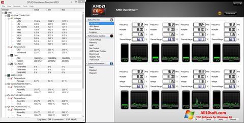 Ekraanipilt AMD Overdrive Windows 10