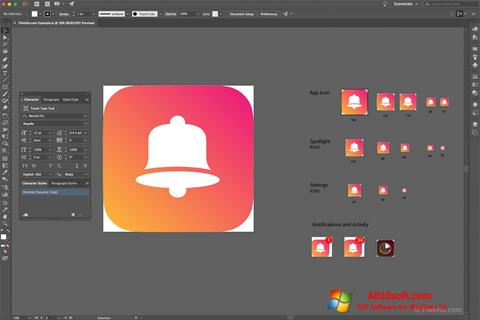 Ekraanipilt Adobe Illustrator CC Windows 10