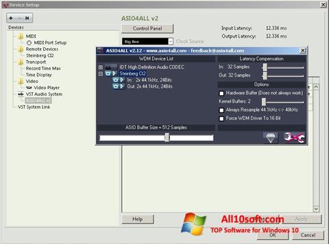 Ekraanipilt ASIO4ALL Windows 10