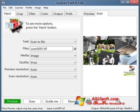 Ekraanipilt VueScan Windows 10