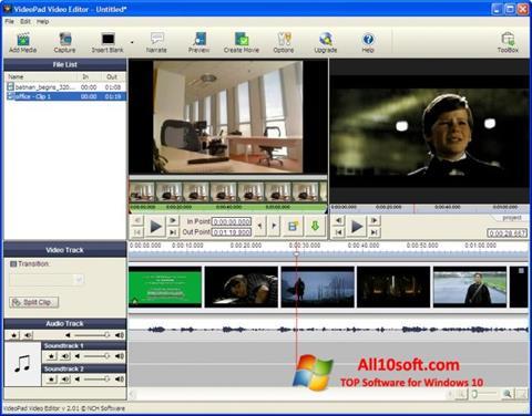 Ekraanipilt VideoPad Video Editor Windows 10