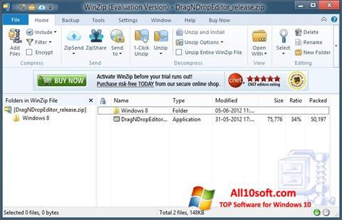 Ekraanipilt WinZip Windows 10