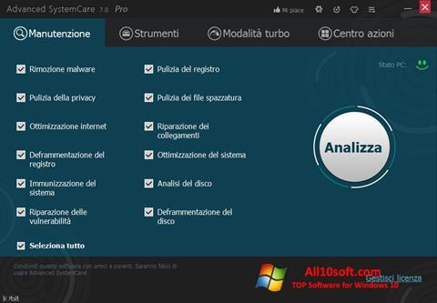 Ekraanipilt Advanced SystemCare Pro Windows 10