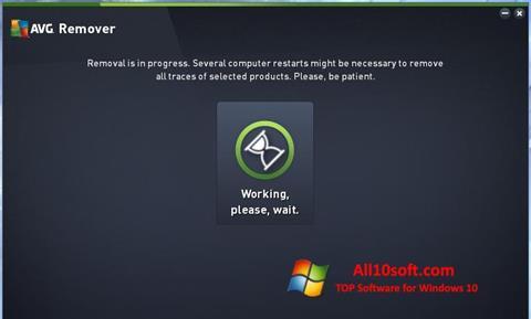 Ekraanipilt AVG Remover Windows 10