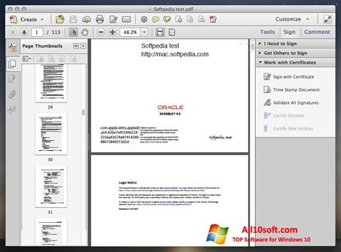Ekraanipilt Adobe Acrobat Windows 10