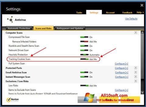Ekraanipilt Norton Windows 10
