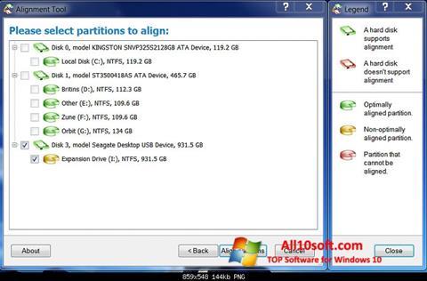 Ekraanipilt Paragon Alignment Tool Windows 10