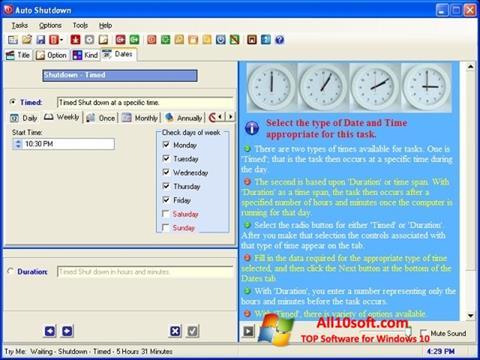 Ekraanipilt Auto ShutDown Windows 10