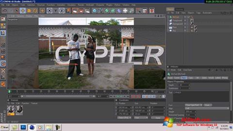 Ekraanipilt CINEMA 4D Windows 10