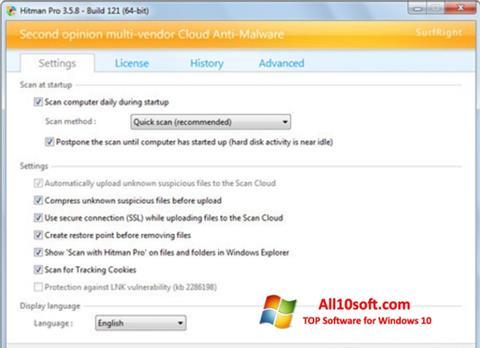 Ekraanipilt HitmanPro Windows 10