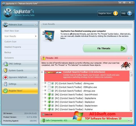 Ekraanipilt SpyHunter Windows 10