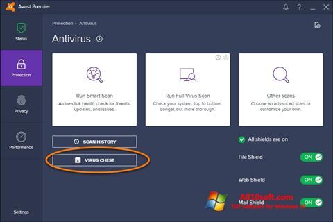 Ekraanipilt Avast Windows 10