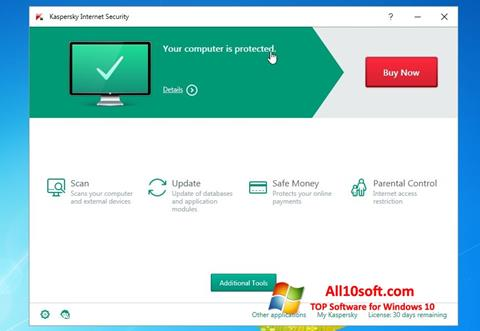 Ekraanipilt Kaspersky AntiVirus Windows 10