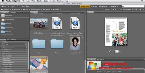 Ekraanipilt Adobe Bridge Windows 10