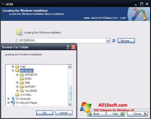 Ekraanipilt nLite Windows 10