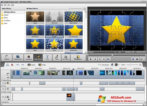Ekraanipilt AVS Video Editor Windows 10