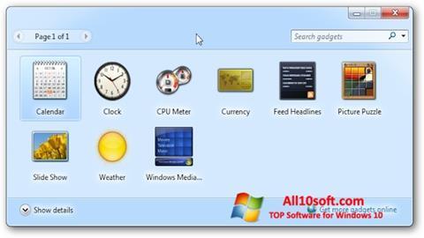 Ekraanipilt 8GadgetPack Windows 10