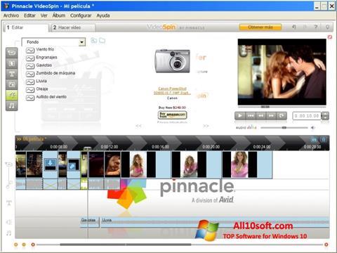 Ekraanipilt Pinnacle VideoSpin Windows 10