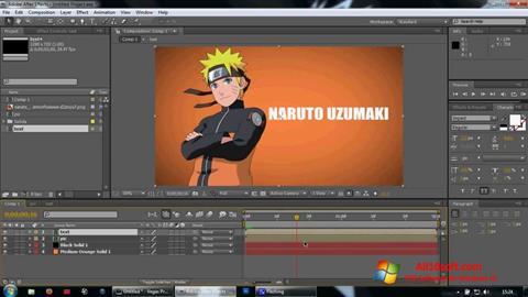 Ekraanipilt Adobe After Effects Windows 10