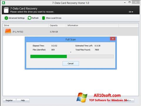 Ekraanipilt CardRecovery Windows 10