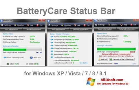 Ekraanipilt BatteryCare Windows 10