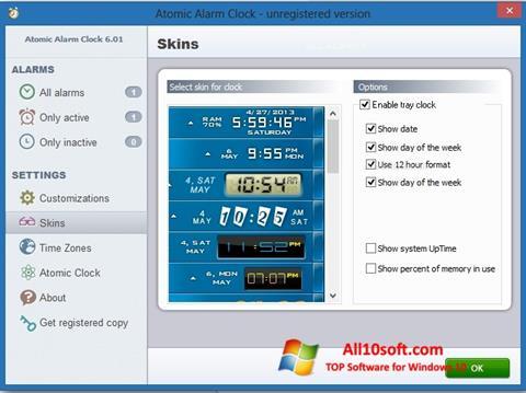 Ekraanipilt Atomic Alarm Clock Windows 10