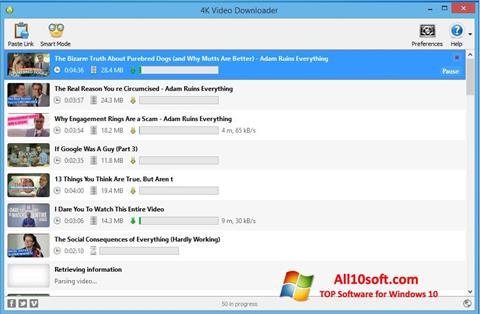 Ekraanipilt 4K Video Downloader Windows 10