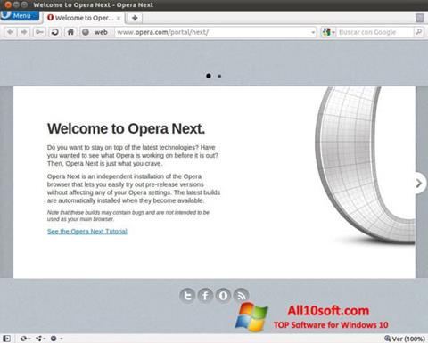 Ekraanipilt Opera Developer Windows 10
