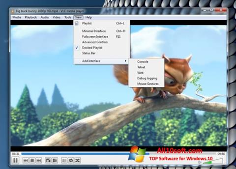 Ekraanipilt VLC Media Player Windows 10