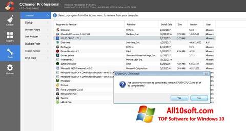Ekraanipilt CCleaner Professional Plus Windows 10