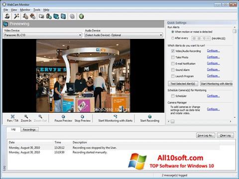 Ekraanipilt WebCam Monitor Windows 10