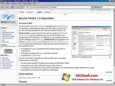 Ekraanipilt Mozilla Firefox Windows 10