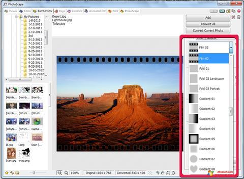 Ekraanipilt PhotoScape Windows 10