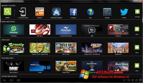 Ekraanipilt BlueStacks Windows 10