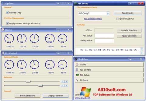 Ekraanipilt ClockGen Windows 10