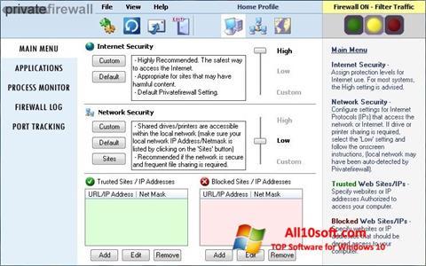 Ekraanipilt Privatefirewall Windows 10