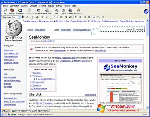 Ekraanipilt SeaMonkey Windows 10